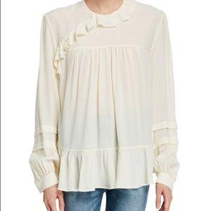 IRO NWT 2018 Amaze long sleeve ruffle frill blouse
